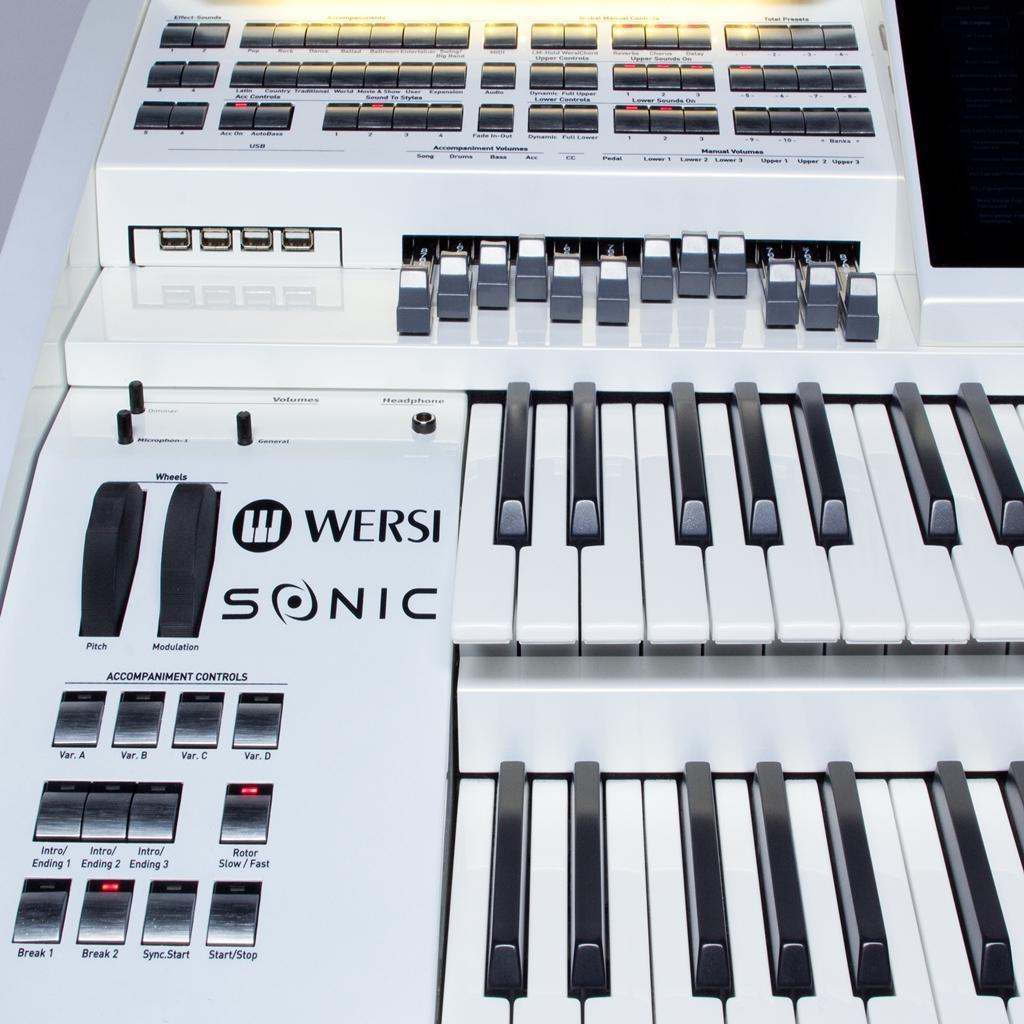 organs new wersi sonic oax500. Black Bedroom Furniture Sets. Home Design Ideas